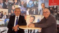 Claude Cougnenc et Guy Cancel sur le stand de Georges Frêche l'Association, Foire des associations 2015